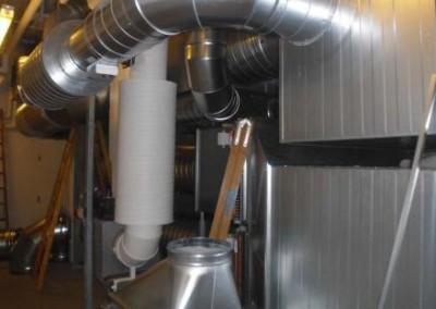ventilationsanlæg inkl. rør